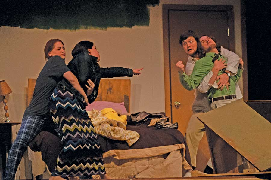 Basement medicine bedroom farce a tale of survival for Farcical comedy plays