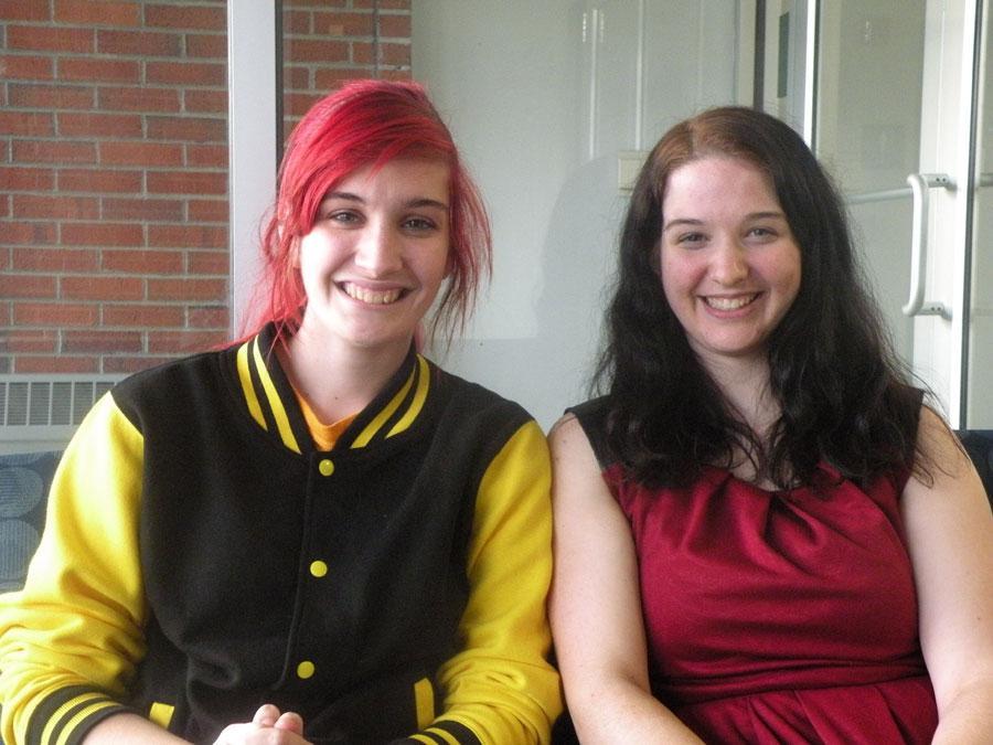Co-presidents Kayla Flanagan and Rachel Braun