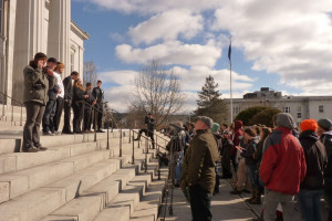 Hundreds rally for increased funding for Vt. State Colleges