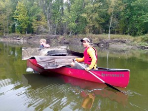 SERVE Fri and Outdoor Ed clean up Lamoille River
