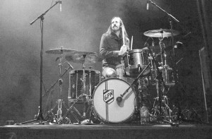Grace Potter and the Nocturnals' Matt Burr on a Bill Allen drum kit.