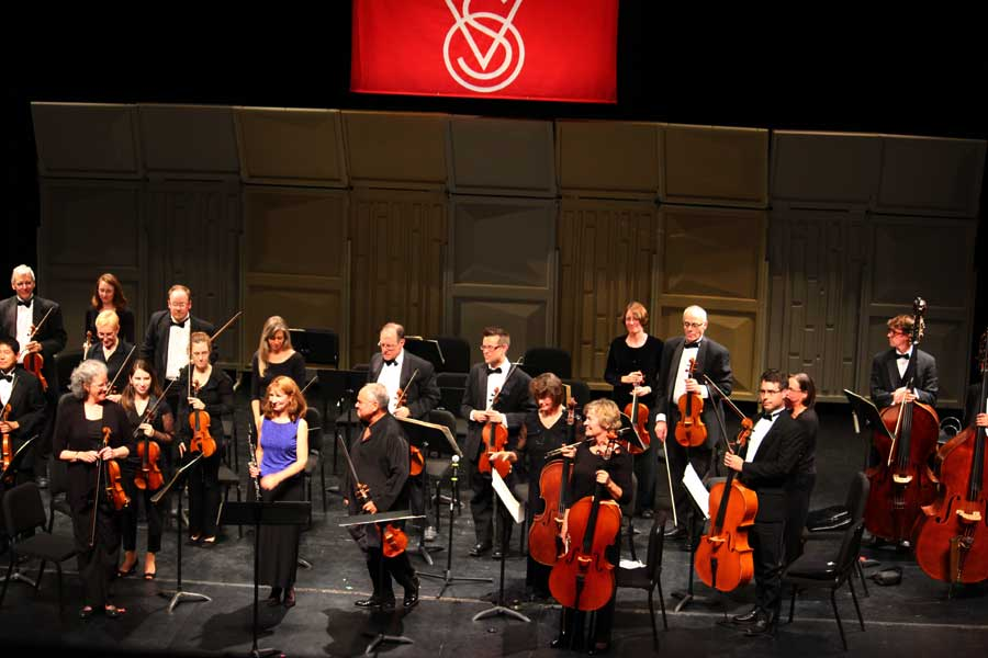 The Vermont Symphony Orchestra in action