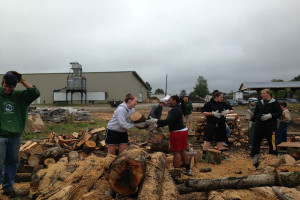 JSC community works with the United Way Firewood Project