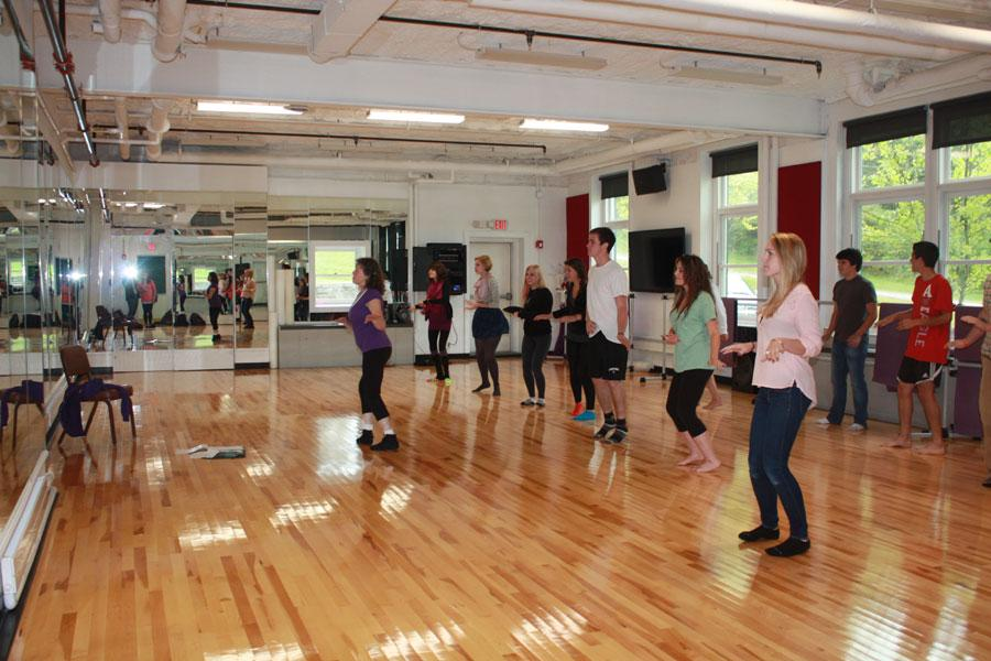 Dance Club working out in new studio