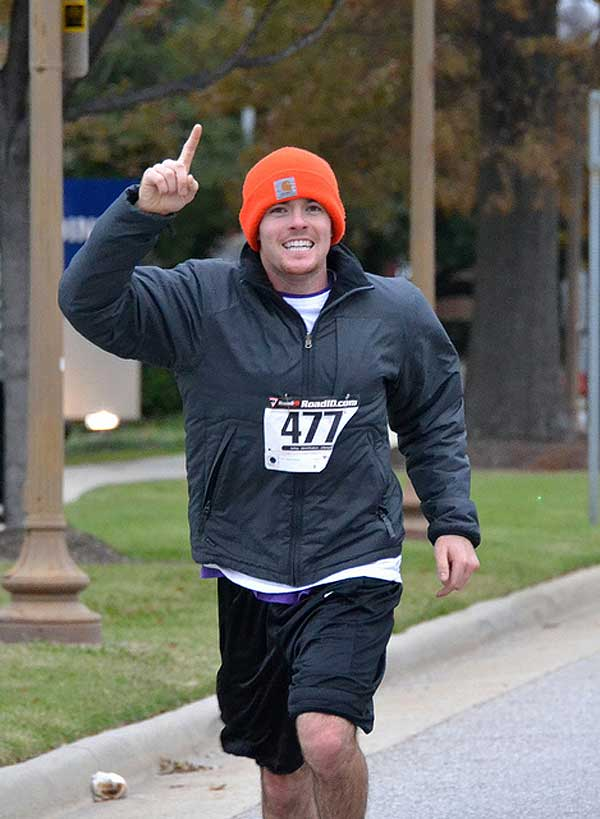 This fall runner makes his personal health Priority One!