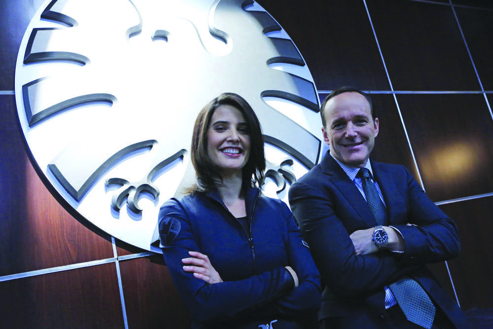 Right%3A+Clark+Gregg+as+Agent+Coulson.+Left%3A+Cobie+Smulders%2C+the+future+Mrs.+Benton.