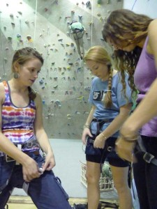 Climbing wall gets some TLC