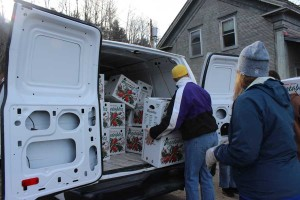 College and Sodexo put together 50 Thanksgiving baskets for local food shelf