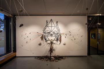 An Ashley Shotwell installation at the Julian Scott gallery