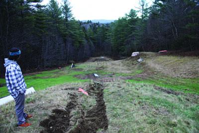 Nash Garceau surveys the terrain park