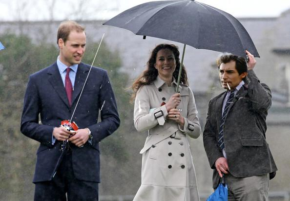 Prince Henry and I escort Kate Middleton, the Duchess of Cambridge, on the way to our swordfight.
