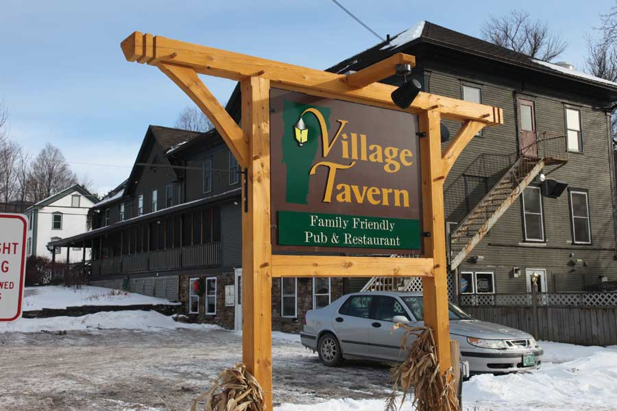 A+cold+January+day+outside+the+Village+Tavern