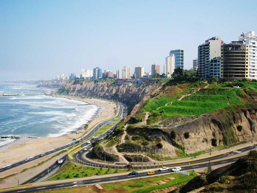 The coastal city of Lima, Peru