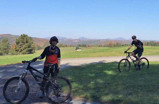 Members of JSC's mountain bike club
