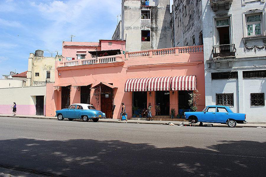 Antique cars are everywhere in Havana, Cuba