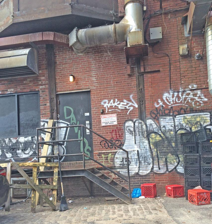Graffiti in a Portland alleyway