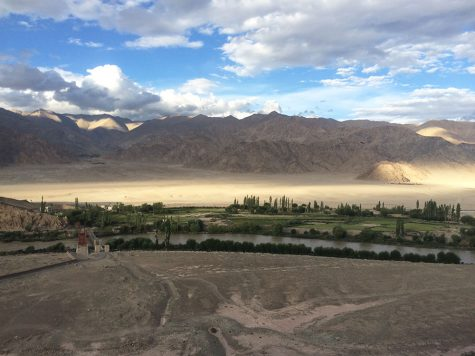 View of the Himalayas from the Dragon Hotel in Leh Ladahk, India