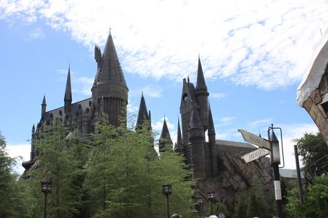 Hogwarts castle, as viewed from Hogsmeade