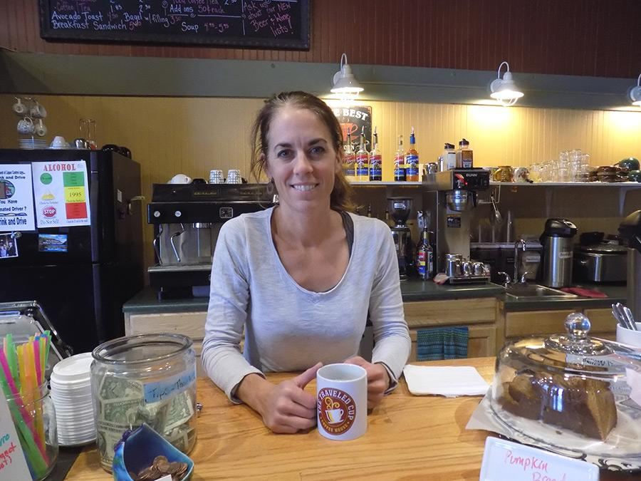 Hannah Lyford, owner of The Traveled Cup Coffee House