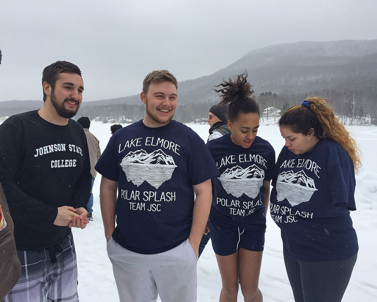 Andrew Tascarella, Sawyer Masure, Brittney Malik and Gabrielle Straight prepare to take the plunge for Team JSC