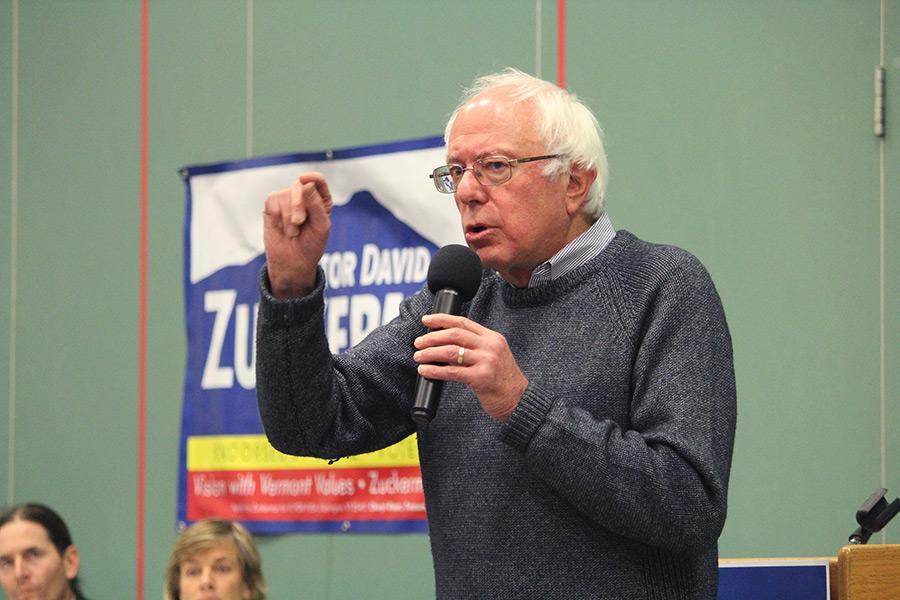 """Bernie Sanders speaks at """"Get Out the Vote"""" rally"""