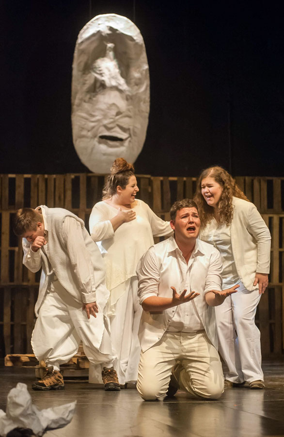"Cody Logan (front) in JSC's production of ""Much Ado About Nothing"""