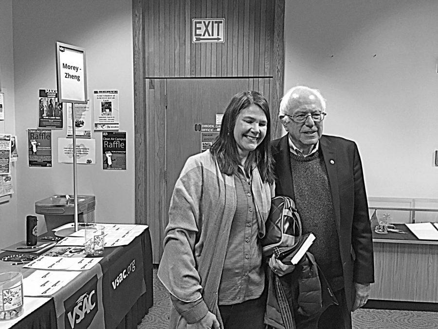Senator+Bernie+Sanders+with+Katie+Lalley