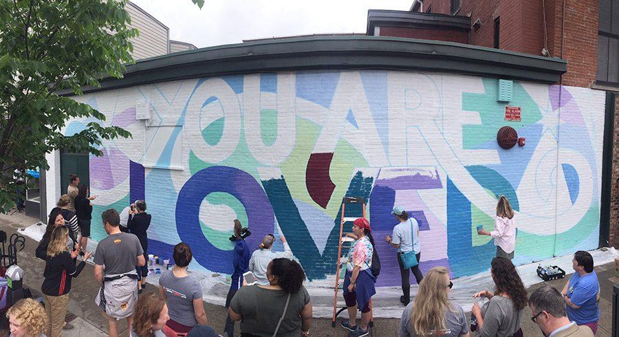 Alex Cook's mural on Cherry Street