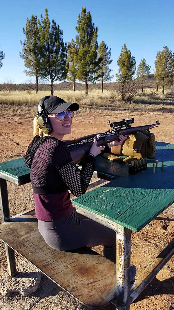 Adriana experiences the joys of the Southwest with an AR-15