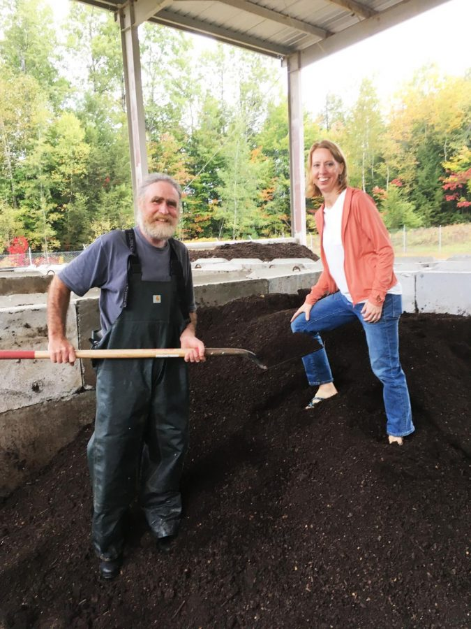Chris Duff and Elly Ventura at Lamoille Soil