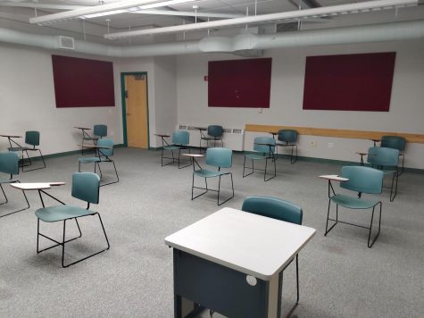 To accommodate social distancing, the capacity of a classroom must be physically managed.